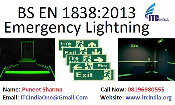 BS EN 1838:2013 Emergency Lighting Testing