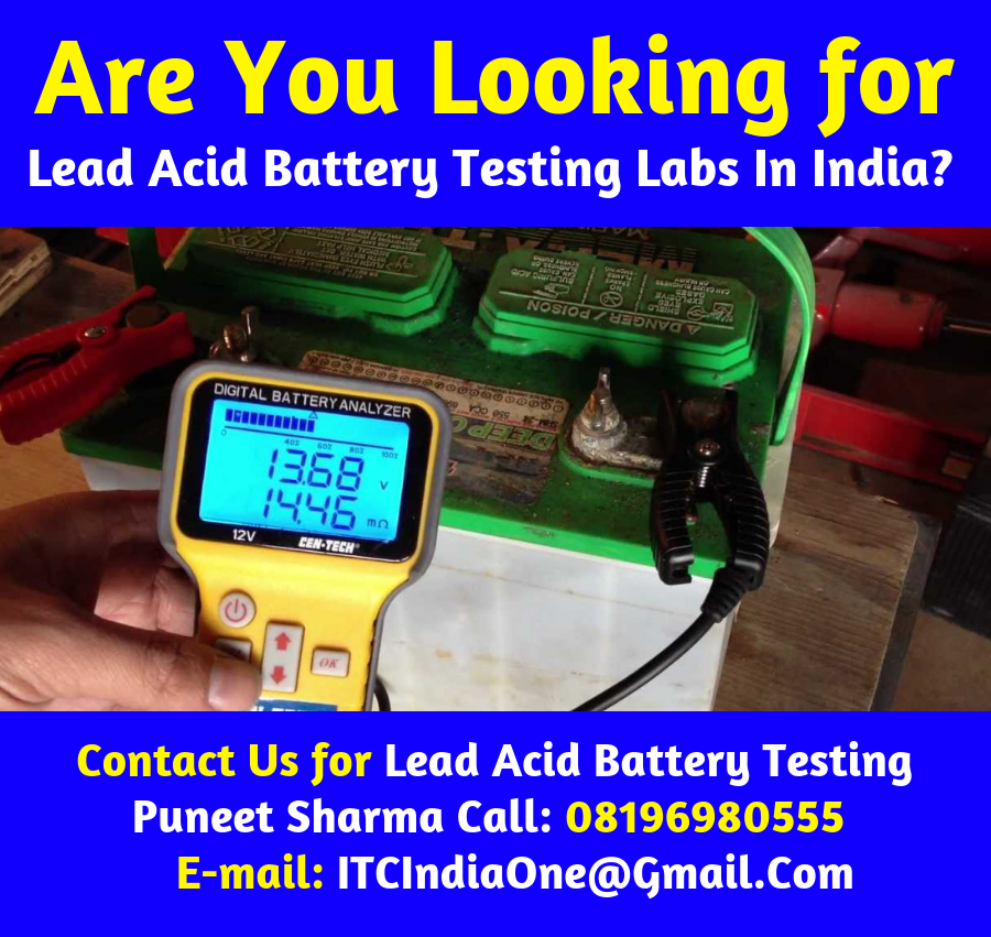 Lead Acid Battery Testing Labs In India
